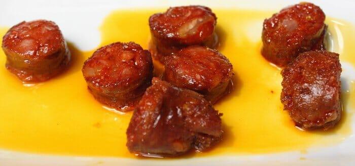 Chorizo casero frito