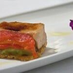 Croque de Foie con pimientos rojos