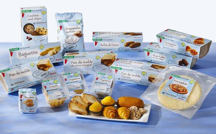 Los hipermercados Alcampo y los supermercados del grupo Simply Market han presentado su propia línea de productos para celiacos baja su marca Auchan