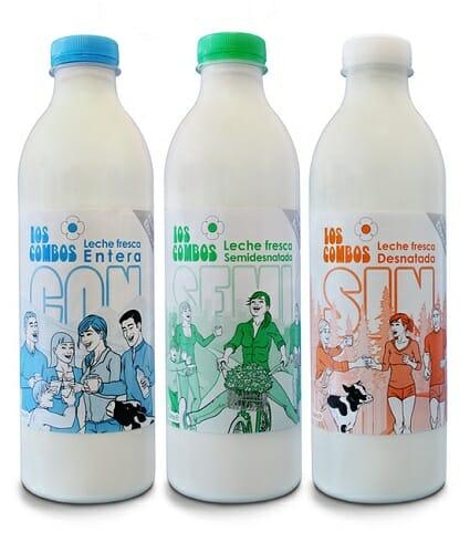 La nueve leche se presenta en botella de PET de 1 litro y en formatos Con, Semi y Sin