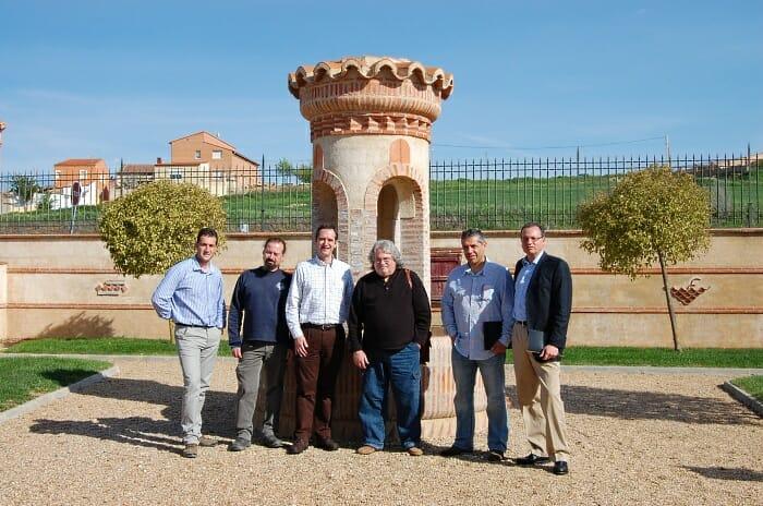 En Numanthia, con Manuel Louzada, Jay Miller, Francisco Campo y personal de la bodega