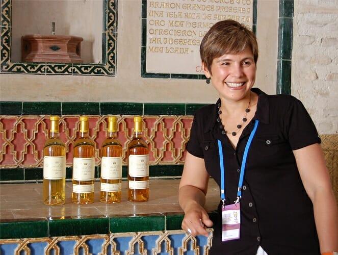 Sandrine Garbay y los cuatro vinos de Chateau d'Yquem catados en Vinoble 2010