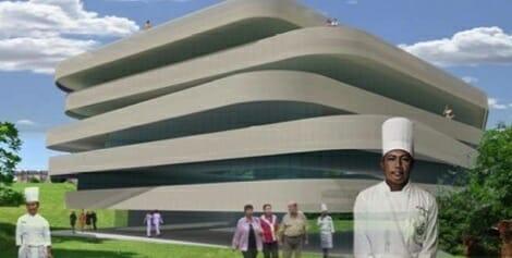 Fachada virtual del Basque Culinary Center (BCC) que se inaugurará dentro de un año