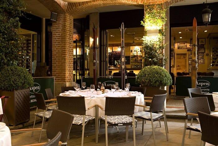 Terraza del restaurante Aspen