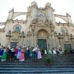 Uno de los actos más solemnes de la Fiesta es la pisa de la uva, en la catedral de Jerez