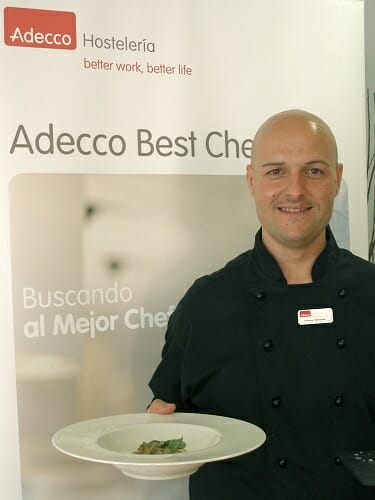 Andrea Benardi, representante de Canarias, ha sido el ganador del concurso Mejor Chef de Adecco Hostelería de España