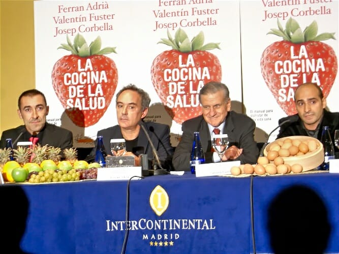 """Detalle de la presentación de """"La cocina de la Salud"""" en Madrid"""