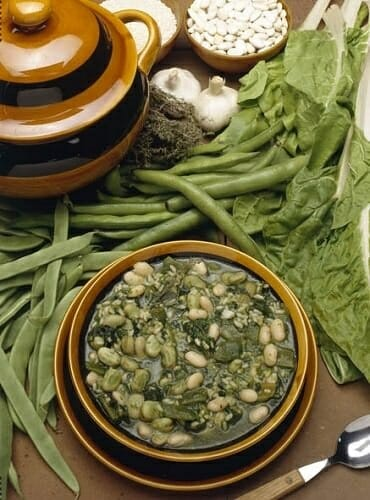 Potaje verde de alubias
