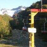 Aerosilla en el glaciar Martial