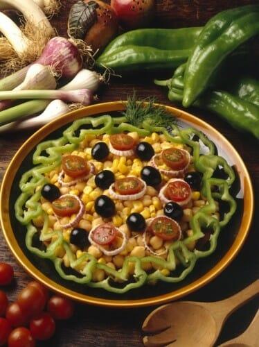 Receta de ensalada de garbanzos recetas de cocina - Ensalada de garbanzos light ...