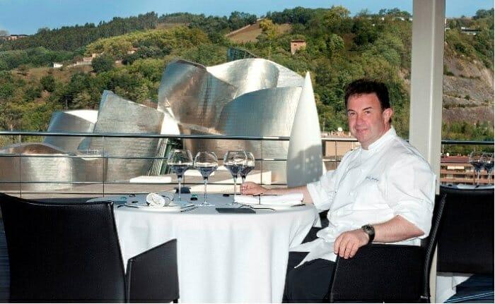 Martín Berasategui, en la terraza de DOMA en Bilbao
