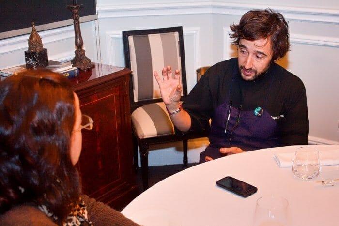 Imagen tomada durante la entrevista