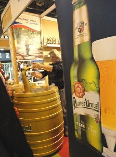 Pilsner Urquell en el Stand de la República Checa