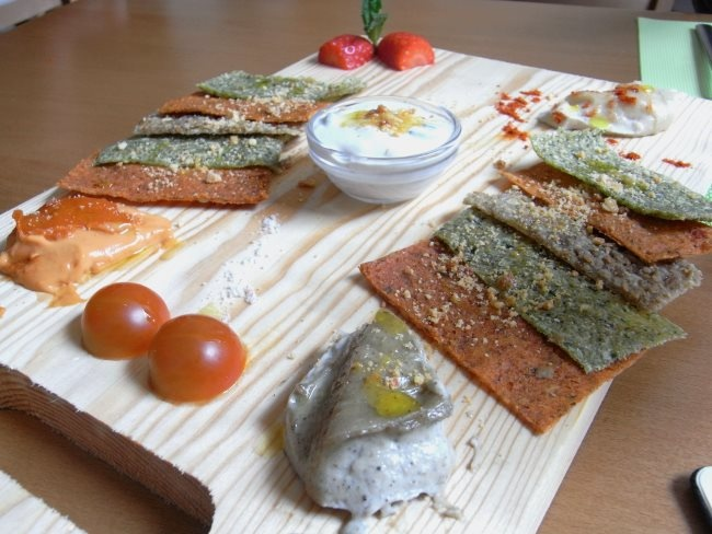 Tabla de quesos vegetales