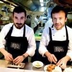 César García y Nacho Manzano, en la cocina de Ibérica