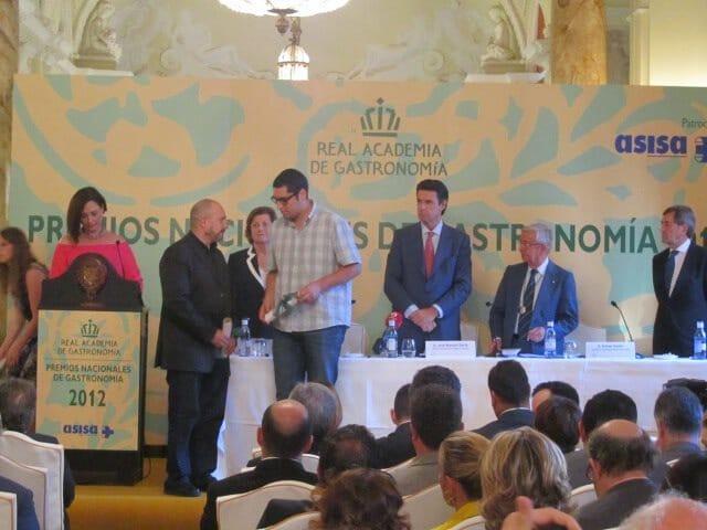 Phillipe Regol recoge el premio a la Mejor Publicación 2012 en Internet: Observacion Gastronómica