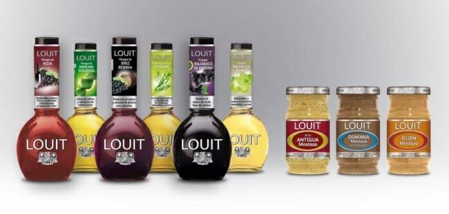 Gama de vinagres y mostazas de LOUIT