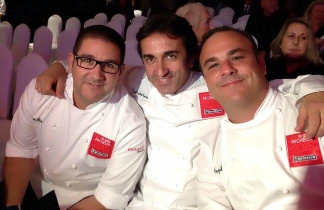 Chefs andaluces durante la presentación de la guía