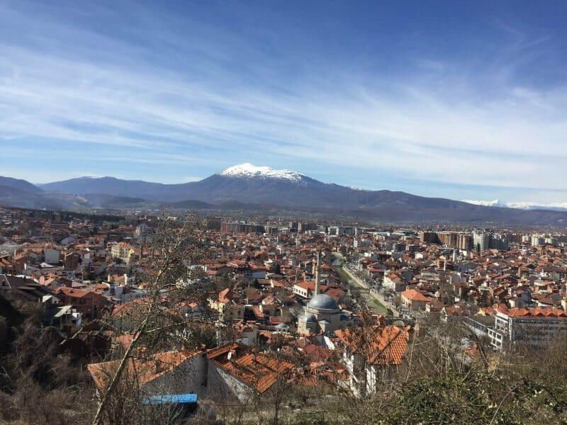 Prizren vista de toda la ciudad