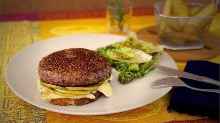 Hamburguesa Newton con queso